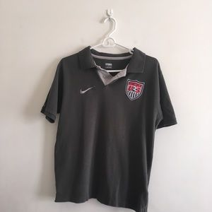 Men's Nike Charcoal US Soccer Polo